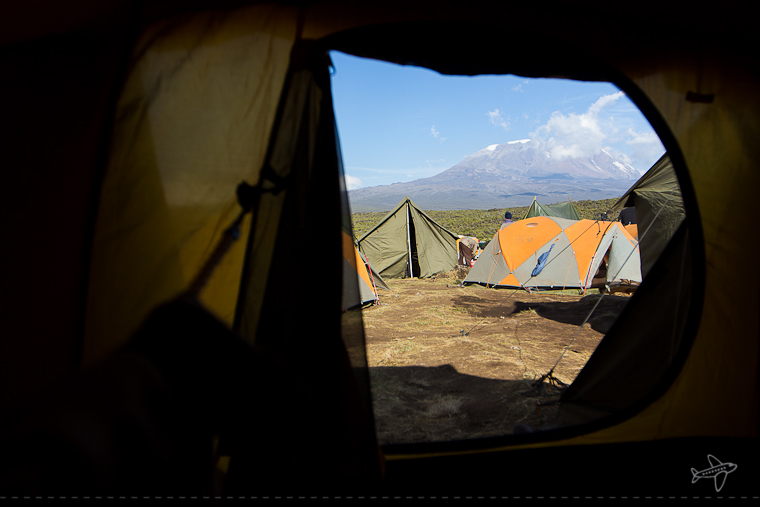 kili from our tent